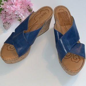 "NWOT Blue Born Wedge 3.5"" Sandals"
